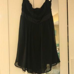 Forever 21 black strapless party dress